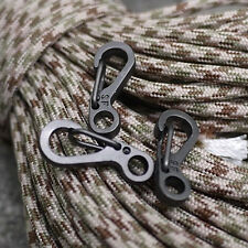 5× Mini EDC Gear Key Rings Spring Buckle Paracord Carabiners Accessories New