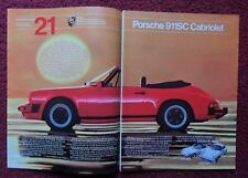 1983 Print Ad Porsche 911SC Cabriolet Targa & Coupe Sports Car Automobile ~