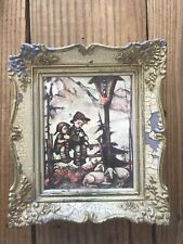 Vintage Hummel Pull String Picture Frame Music Box plays Sleep Baby Sleep