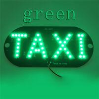 Hot Sale Taxi Cab Windscreen Windshield Sign Green LED Taxi Light Lamp Bulb ATAU