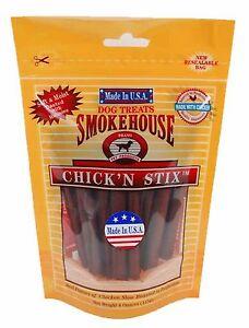 Smokehouse USA Made Chicken Stix 4oz reseal bag