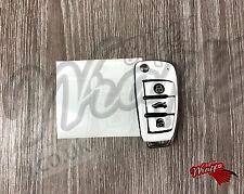 White Gloss Key Wrap Cover Audi Remote A1 A3 A4 A5 A6 A8 TT Q3 5 Q7