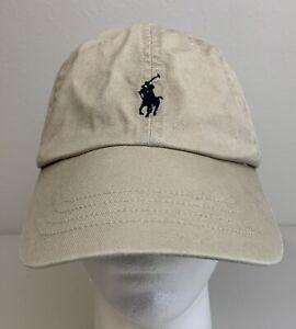 Polo Ralph Lauren Hat Cotton Khaki Beige Adjustable Dad Cap