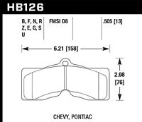 Hawk Performance HB126Z.505 Disc Brake Pad 66-80 CAMARO CORVETTE