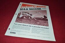 Bobcat Skid Loader 914-A Backhoe Attachment Dealers Brochure DCPA2
