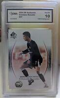 2004 Cristiano ronaldo rookie card - SP Authentic #37 GMA 10 gem mint!! not PSA