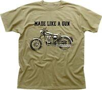 Royal Enfield - Made like a Gun logo T-Shirt - retro motorcycle KHAKI  01532
