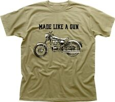 Royal Enfield - Made like a Gun logo T-Shirt - retro motorcycle KHAKI  01532
