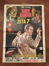 manifesto,2F K, MARK DONEN AGENTE ZETA 7 1966,Romitelli Lang Jeffries,  SPY