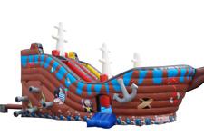 XXL Hüpfburg Hüpflandschaft Piratenschiff begehbar 8,4x4,8x4,5m Springburg NEU