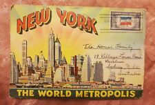New York - Accordion-Style Picture Postcard - 1944