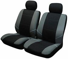 UKB4C Black/Grey Front Pair of Car Seat Covers for BMW 1 Series All Years