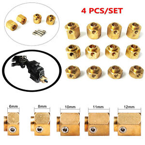 4PCS Brass Hex Wheel Hub Extended Adapter Combiner for Traxxas TRX-4 RC Crawler