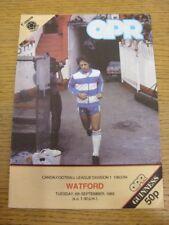 06/09/1983 Queens Park Rangers V Watford. grazie per la visualizzazione di questo oggetto offerto