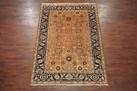 Antiqued 6X9 Veg Dye Mahal Sultanabad Area Rug Hand-Knotted Wool Carpet (6.1 x 9