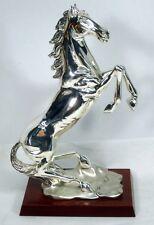 Vintage Linea Argenti Horse Silver Coated Resin Sculpture