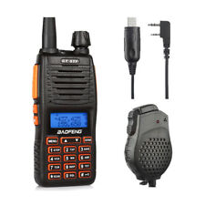 Baofeng GT-5TP 8W HP 136-174/400-520MHz Two-way Radio + Dual PTT Speaker Cable