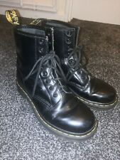 Womens DR MARTENS Black Leather Ankle Boot Size UK 5 EU 38
