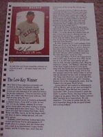 Bob Lemon 1988 Baseball Card Engagement Book w/ 1952 Star-Cal Decals