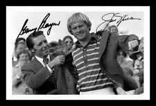 GARY PLAYER & JACK NICKLAUS AUTOGRAPHED SIGNED AND FRAMED  POSTER PHOTO