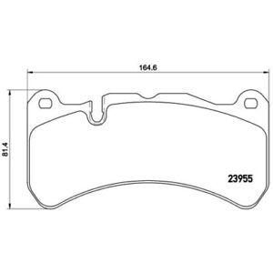 1 Kit de plaquettes de frein, frein à disque BREMBO P 50 092 convient à