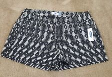 Womens old navy shorts size 2 black white new with tags