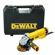 "Dewalt DWE4206K 110V Corded 1000w Angle Grinder in Kit Box 115mm 4.5"" DWE4206"