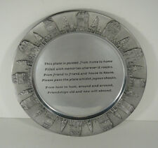 Lenox Aluminum Friend to Friend The Giving Plate Metal Engraved Rim Cake Plate
