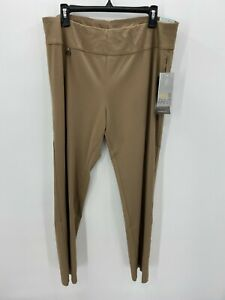 Slim-Sation Womens Size 18 Ease Y Fit Tan Brown Tummy Control Pants NWT