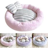 Rond lit pour chien chat chaud panier coussin corbeille confortable taille S M L