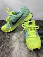 NikeZoom Fly Woman's Neon Yellow And Baby Blue Size 8 US Running Shoe