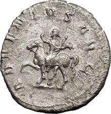 TRAJAN DECIUS on horse 249AD Silver Authentic Ancient  Roman Coin i50610