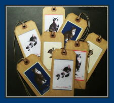 CHESSIE CAT PRIMITIVE HANG TAGS - SET OF EIGHT - VINTAGE STYLE