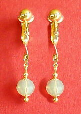BELLISSIMO Sand Opal cristalli swarovski-GOLDEN clip SU ORECCHINI (o dai ganci)