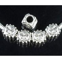 30pcs Tibetan Silver Sun Beads Big Hole Fit European Charm Bracelet ZY156