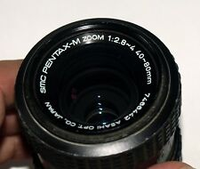 SMC Pentax-M K-mount lens; 40 - 80mm macro zoom, front and back caps, works!
