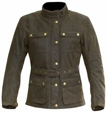Merlin Ashley Wax Cotton Motorcycle Jacket Brown Ladies Womens old style retro