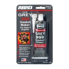 Abro GREY 999 RTV Silicone Instant Gasket Maker Sealant Adhesive Sensor Safe