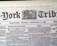 BATTLE OF MILL SPRINGS Kentucky & Roanoke Island NC 1862 Civil War Newspaper