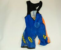 Vintage Cannondale cycling team bib singlet padded cycling jersey blue large