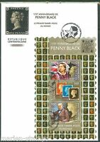 CENTRAL AFRICA 2015  175th ANNIVERSARY OF THE PENNY BLACK SHEET FDC