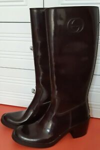 GUCCI Brown Rain Boot size 38 US 7,5