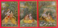 Hand Painted Miniature Krishna Radha Painting Art Work Finest Mewar Exquisite
