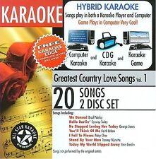 ASK-101 Karaoke: Greatest Country Love Songs with Karaoke Edge, featuring songs