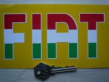 "Fiat Italiana Tricolore cortar texto de auto estilo pegatinas 6 ""par Abarth 500 Punto"
