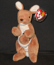 TY POUCH the KANGAROO BEANIE BABY - MINT with MINT TAG (PRICE STICKER on BACK)