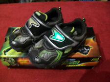 "Toddler Skechers ""Damager-Spaceship"" Light -Up Shoes Size 5 Black/Lime 90356"