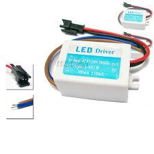 2x 4-6X1W AC 85-250V Light LED Driver Power Supply Transformer Jack Plug 2 pins