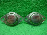 2PAR 2SA679 / A679 + 2SC1079 / C1079 TRANSISTOR TO-3