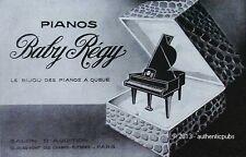 PUBLICITE PIANO BABY REGY LE BIJOU DES PIANOS A QUEUE DE 1930 FRENCH AD ADVERT